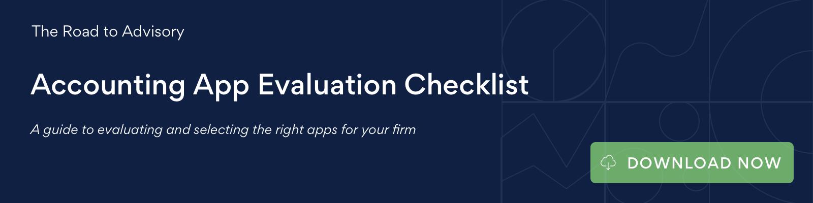 Accounting App Evaluation Checklist CTA
